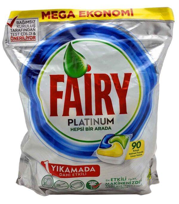 خرید قرص ماشین ظرف شویی 90 عددی فیری Fairy