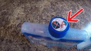 جدا کردن برچسب مایع جرم گیر ماشین ظرفشویی