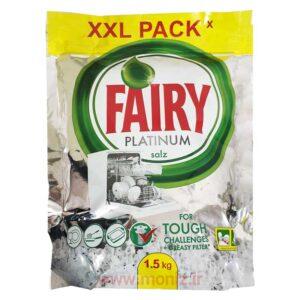 نمک ماشین ظرفشویی پلاتینیوم فیری Fairy کیسه ای 1500 گرمی